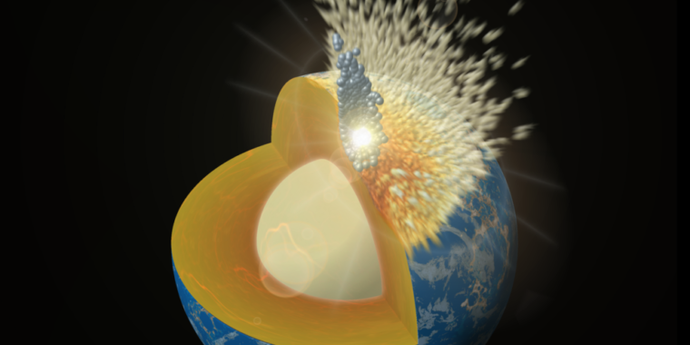 Impact that formed the Moon might have splashed into Earth's magma ocean