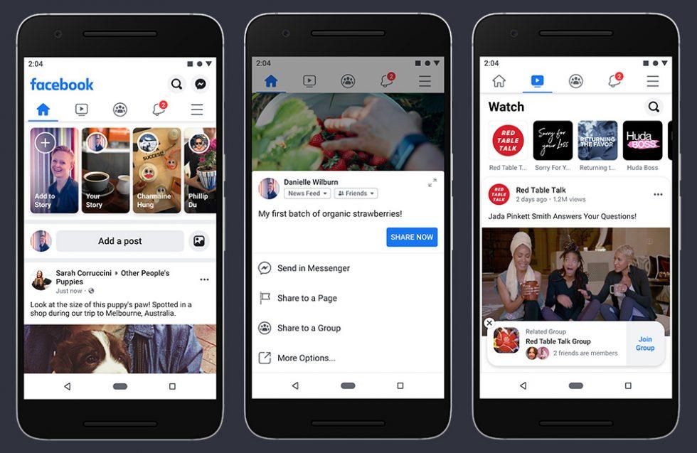 New Facebook App