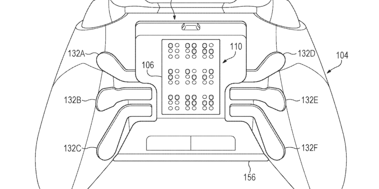 Microsoft patented a braille-displaying controller accessory for the blind