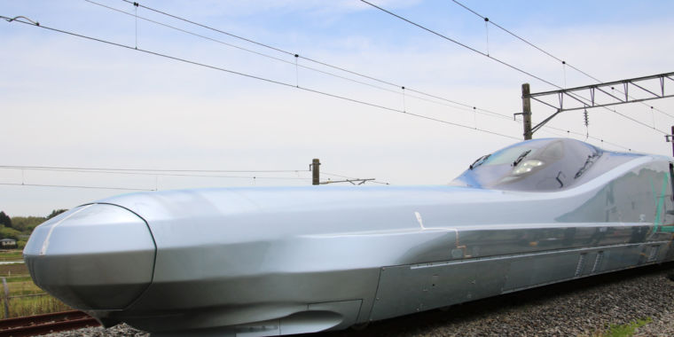 Japanese railway company starts testing 249mph bullet train speeds