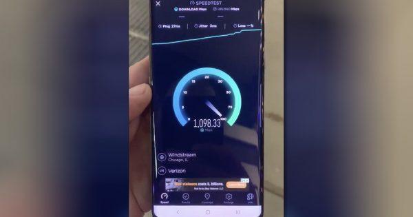 Here is Verizon's 5G Network Downloading at Gigabit Speeds
