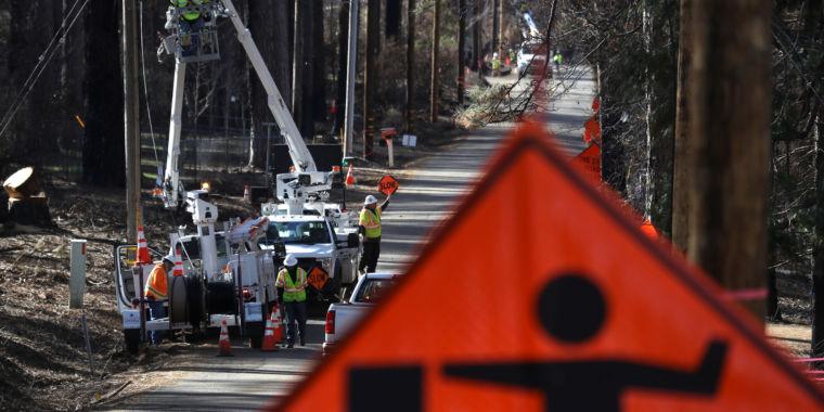 Utility equipment sparked massive California wildfire, investigators say