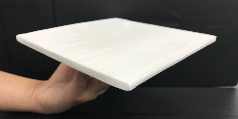 Stronger than aluminum, a heavily altered wood cools passively