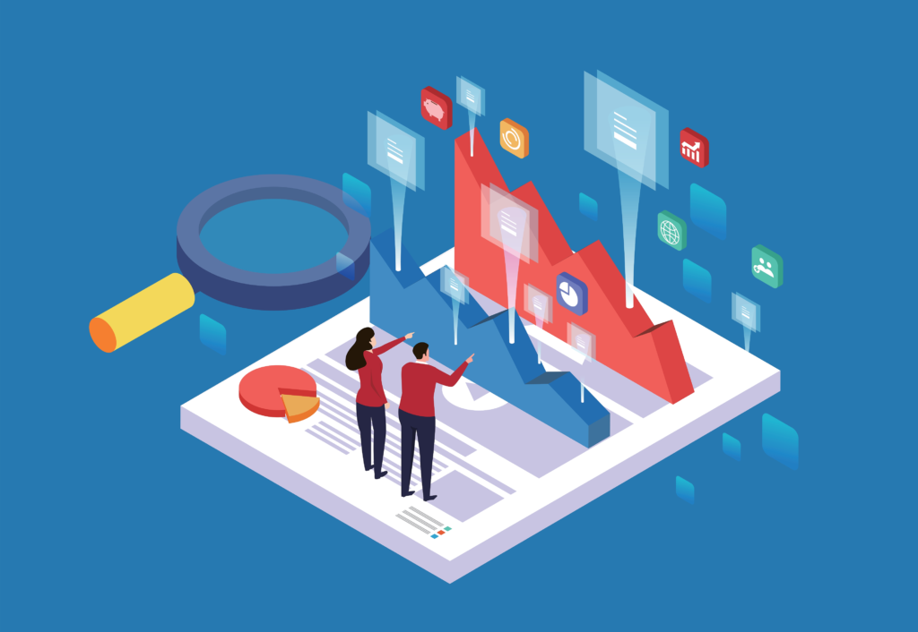 Isometric-concept-of-business-team-analyzing-data-charts-and-graphs-1126311976_5200x3600