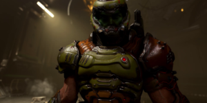 DOOM Eternal gameplay world premiere: Devil horns in the air—literally