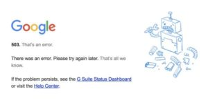 Google Calendar is Down Right Now (Updated: Back!)