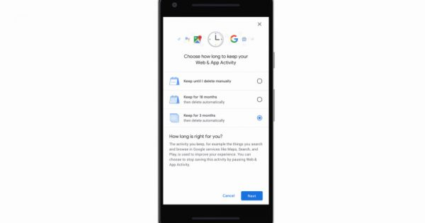 Google Auto-Delete Feature for Location History, Activity Data Arrives Today