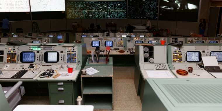 NASA's restored Apollo Mission Control is a slice of 60s life, frozen in amber