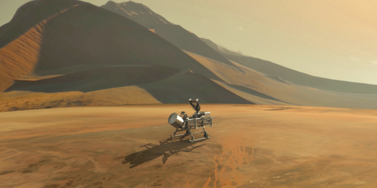 NASA will fund a revolutionary mission to fly through Titan's atmosphere