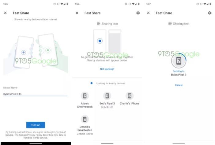Google Fast Share