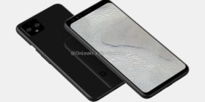 In renders, the Pixel 4 trades a giant notch for a giant forehead