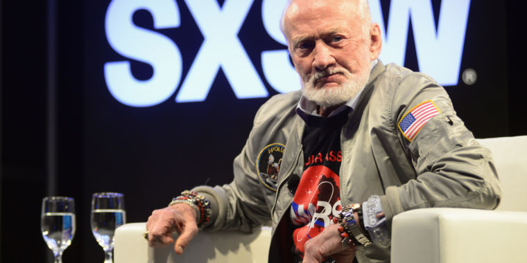 Buzz Aldrin is looking forward, not back—and he has a plan to bring NASA along