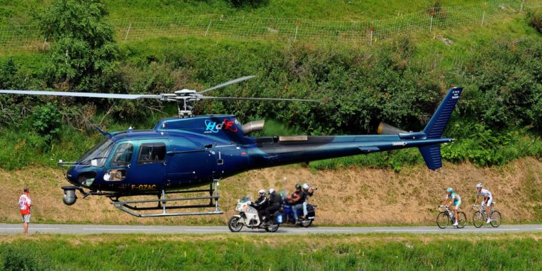The helicopter team that films the Tour de France is one of a kind