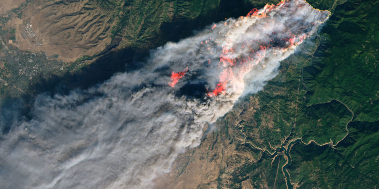 Warming climate likely leading to larger California fires